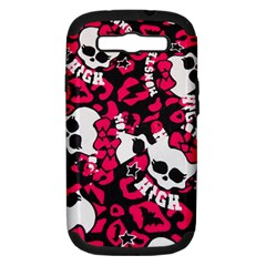 Mattel Monster Pattern Samsung Galaxy S Iii Hardshell Case (pc+silicone) by BangZart