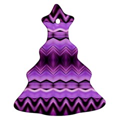 Purple Pink Zig Zag Pattern Christmas Tree Ornament (two Sides) by BangZart