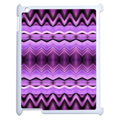 Purple Pink Zig Zag Pattern Apple Ipad 2 Case (white) by BangZart