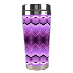 Purple Pink Zig Zag Pattern Stainless Steel Travel Tumblers by BangZart