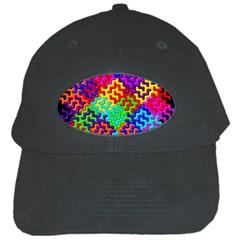 3d Fsm Tessellation Pattern Black Cap by BangZart