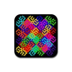 3d Fsm Tessellation Pattern Rubber Coaster (square)  by BangZart