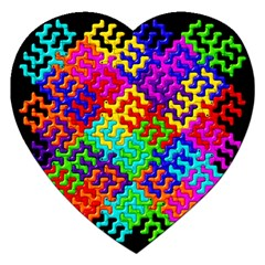 3d Fsm Tessellation Pattern Jigsaw Puzzle (heart) by BangZart