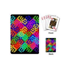 3d Fsm Tessellation Pattern Playing Cards (mini)  by BangZart