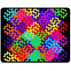 3d Fsm Tessellation Pattern Double Sided Fleece Blanket (medium)  by BangZart