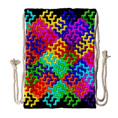 3d Fsm Tessellation Pattern Drawstring Bag (large) by BangZart