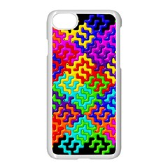 3d Fsm Tessellation Pattern Apple Iphone 7 Seamless Case (white) by BangZart