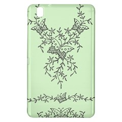 Illustration Of Butterflies And Flowers Ornament On Green Background Samsung Galaxy Tab Pro 8 4 Hardshell Case by BangZart