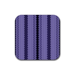 Zig Zag Repeat Pattern Rubber Square Coaster (4 Pack)  by BangZart