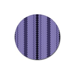 Zig Zag Repeat Pattern Magnet 3  (round) by BangZart