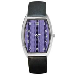 Zig Zag Repeat Pattern Barrel Style Metal Watch by BangZart