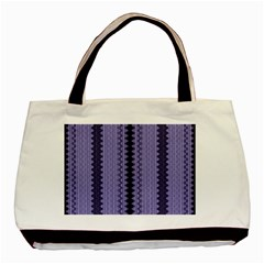Zig Zag Repeat Pattern Basic Tote Bag (two Sides) by BangZart