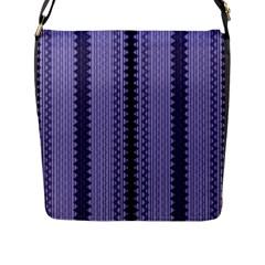 Zig Zag Repeat Pattern Flap Messenger Bag (l)  by BangZart