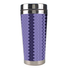Zig Zag Repeat Pattern Stainless Steel Travel Tumblers by BangZart
