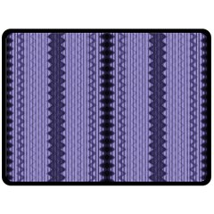 Zig Zag Repeat Pattern Double Sided Fleece Blanket (large)  by BangZart