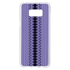 Zig Zag Repeat Pattern Samsung Galaxy S8 Plus White Seamless Case