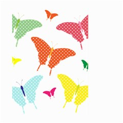 Beautiful Colorful Polka Dot Butterflies Clipart Large Garden Flag (two Sides)