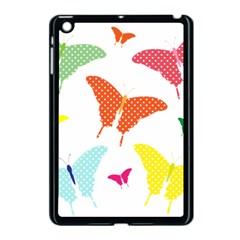 Beautiful Colorful Polka Dot Butterflies Clipart Apple Ipad Mini Case (black) by BangZart