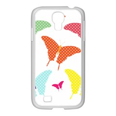 Beautiful Colorful Polka Dot Butterflies Clipart Samsung Galaxy S4 I9500/ I9505 Case (white) by BangZart