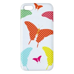 Beautiful Colorful Polka Dot Butterflies Clipart Iphone 5s/ Se Premium Hardshell Case by BangZart