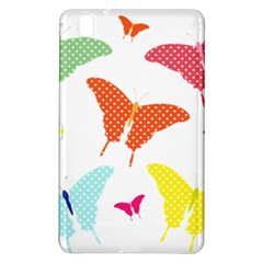 Beautiful Colorful Polka Dot Butterflies Clipart Samsung Galaxy Tab Pro 8 4 Hardshell Case by BangZart