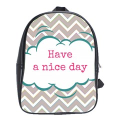 Have A Nice Day School Bags(large)  by BangZart