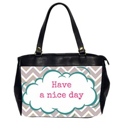 Have A Nice Day Office Handbags (2 Sides)  by BangZart