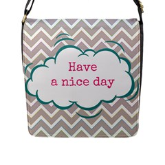 Have A Nice Day Flap Messenger Bag (l)  by BangZart