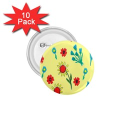 Flowers Fabric Design 1 75  Buttons (10 Pack) by BangZart