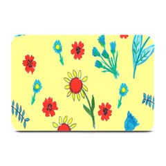 Flowers Fabric Design Plate Mats