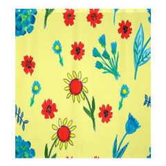 Flowers Fabric Design Shower Curtain 66  X 72  (large)  by BangZart