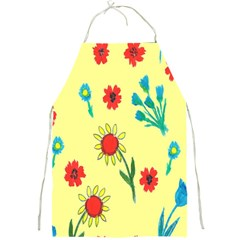 Flowers Fabric Design Full Print Aprons by BangZart