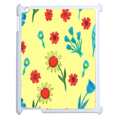Flowers Fabric Design Apple Ipad 2 Case (white) by BangZart