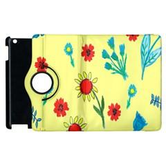 Flowers Fabric Design Apple Ipad 3/4 Flip 360 Case by BangZart