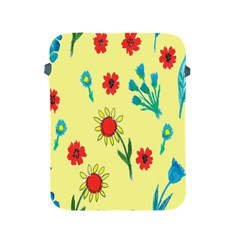 Flowers Fabric Design Apple Ipad 2/3/4 Protective Soft Cases by BangZart