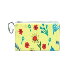 Flowers Fabric Design Canvas Cosmetic Bag (s) by BangZart