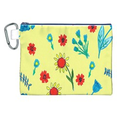 Flowers Fabric Design Canvas Cosmetic Bag (xxl) by BangZart