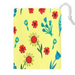 Flowers Fabric Design Drawstring Pouches (xxl) by BangZart