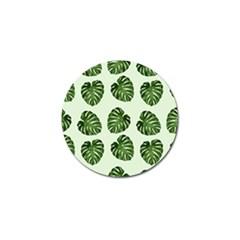 Leaf Pattern Seamless Background Golf Ball Marker by BangZart