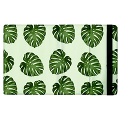 Leaf Pattern Seamless Background Apple Ipad 2 Flip Case by BangZart