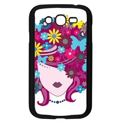 Beautiful Gothic Woman With Flowers And Butterflies Hair Clipart Samsung Galaxy Grand Duos I9082 Case (black) by BangZart