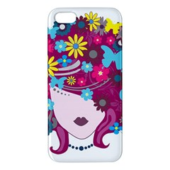 Beautiful Gothic Woman With Flowers And Butterflies Hair Clipart Iphone 5s/ Se Premium Hardshell Case by BangZart