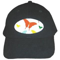 Beautiful Colorful Polka Dot Butterflies Clipart Black Cap by BangZart