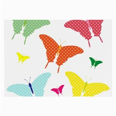 Beautiful Colorful Polka Dot Butterflies Clipart Large Glasses Cloth by BangZart