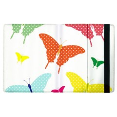 Beautiful Colorful Polka Dot Butterflies Clipart Apple Ipad 3/4 Flip Case by BangZart
