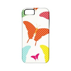 Beautiful Colorful Polka Dot Butterflies Clipart Apple Iphone 5 Classic Hardshell Case (pc+silicone) by BangZart