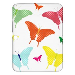 Beautiful Colorful Polka Dot Butterflies Clipart Samsung Galaxy Tab 3 (10 1 ) P5200 Hardshell Case  by BangZart