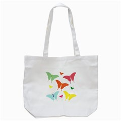 Beautiful Colorful Polka Dot Butterflies Clipart Tote Bag (white) by BangZart