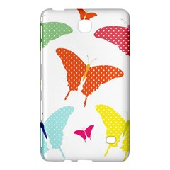Beautiful Colorful Polka Dot Butterflies Clipart Samsung Galaxy Tab 4 (8 ) Hardshell Case  by BangZart