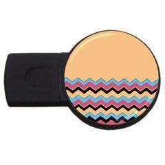 Chevrons Patterns Colorful Stripes Usb Flash Drive Round (2 Gb) by BangZart